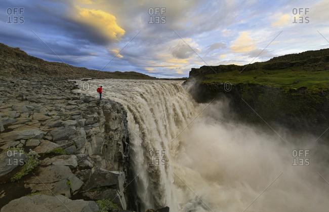 Overlooking Dettifoss Waterfall with Garrett Weintrob, Iceland.