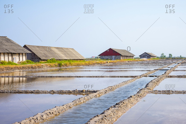 Salt farms and evaporation ponds, Kampot, Cambodia