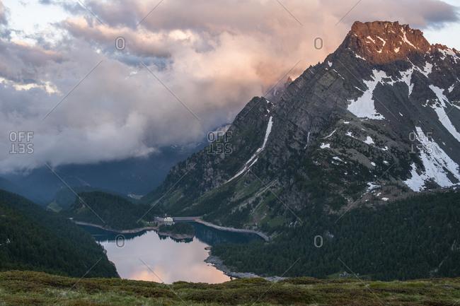 Mountain landscape in Devero National Park, Piemonte, Italy.