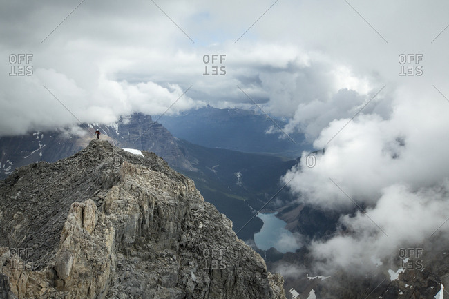 Hiking above the clouds, Canadian Rockies