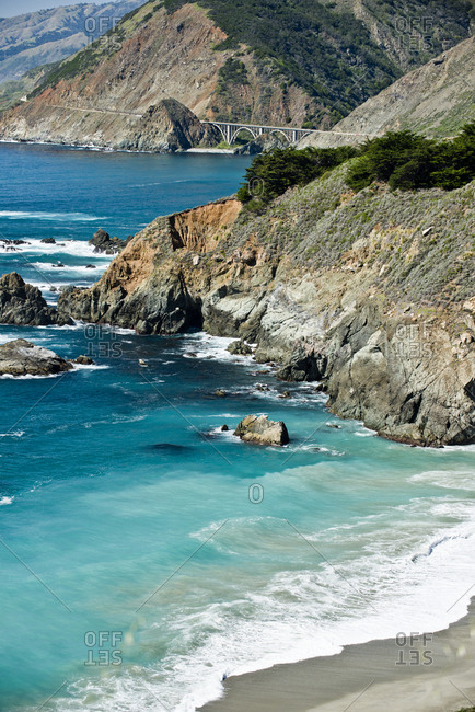 The rocky coast of Big Sur, CA.