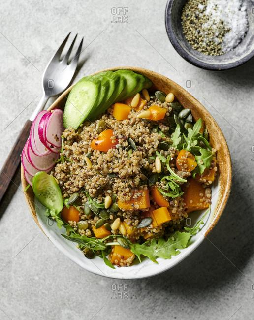 Quinoa tabbouleh bowl