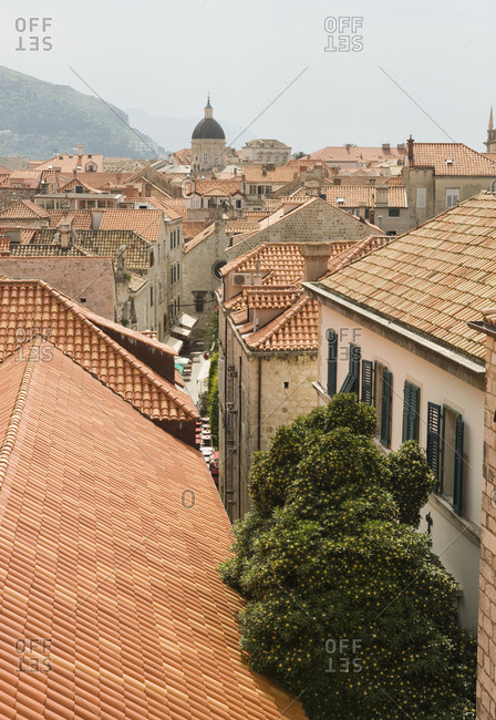 A view of downtown Dubrovnik, Croatia.