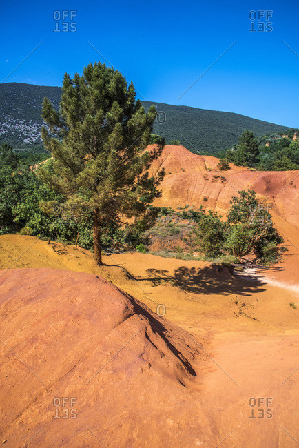 France, Vaucluse, Rustrel, Provencal Colorado landscape