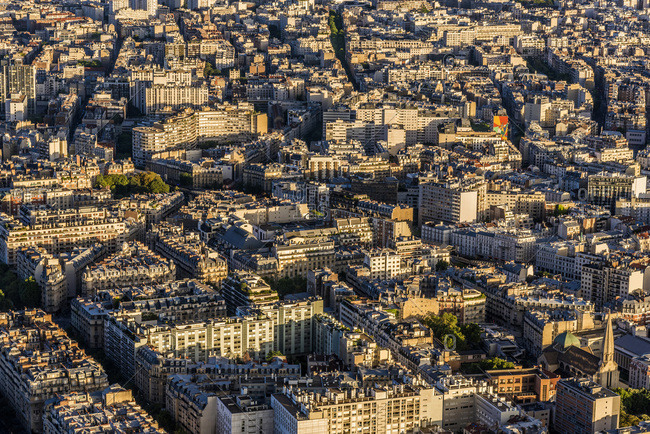 France, 15th arrondissement of Paris, view from the Eiffel Tower