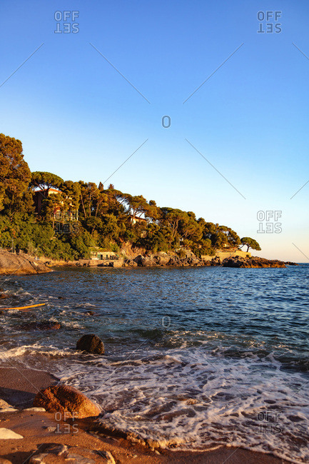 Lerici, Five countries, Liguria, ItalyAugust 15, 2018view of the coast from the beach