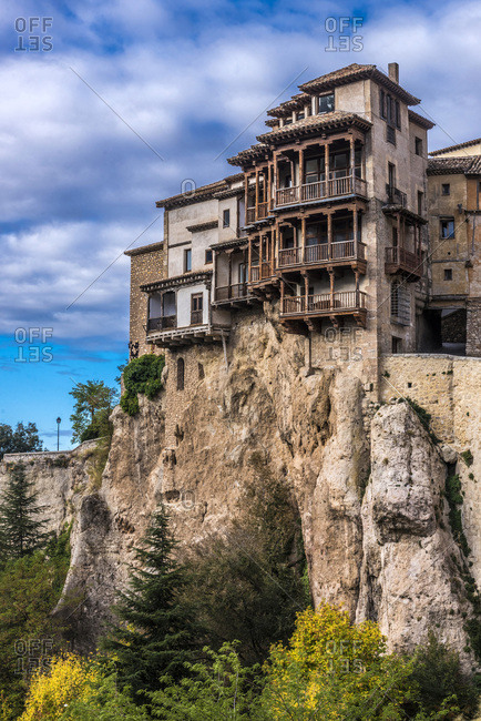 "Spain, autonomous community of CastileLa Mancha, city of Cuenca, Casa del Rey (Casas Colgadas ""Hanging houses"") of the upper city of Hoz del Huecar (UNESCO World Heritage) (Most Beautiful Village in Spain)"