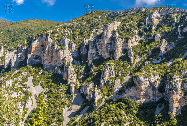 Spain, province of Huesca, autonomous community of Aragon, Sierra y Ca�ones de Guara natural park, the Mascun canyon