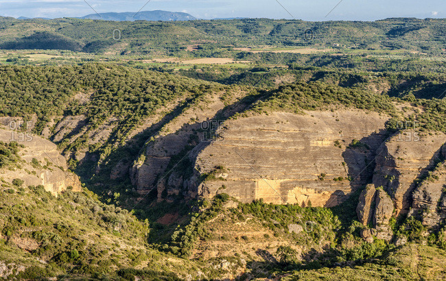 pain, autonomous community of Aragon, Sierra y Ca�ones de Guara natural park, canyon of the Vero river (UNESCO World Heritage for the rock sites art)