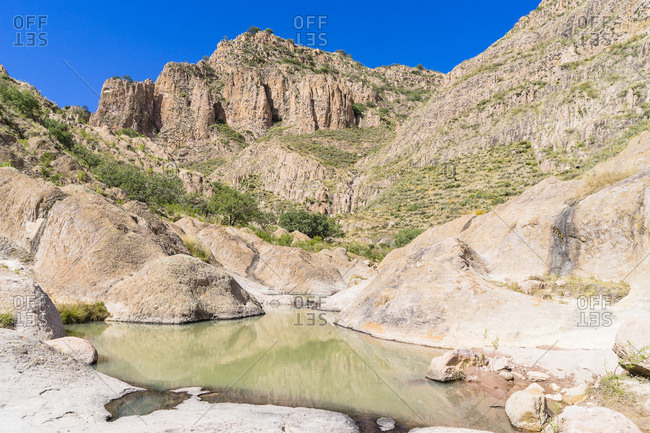 River and Sierra, Rancho La Joya, Ranch John Wayne, Durango, Mexico, Central America