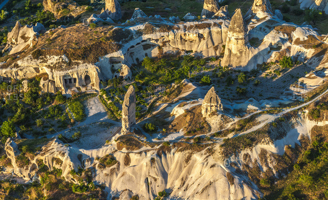Turkey, Goreme national park and rock sites of Cappadocia, tuff cones and troglodyte houses (UNESCO World Heritage)