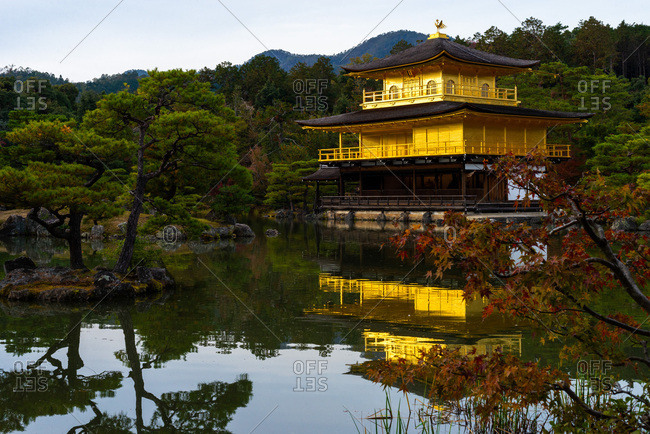 Kinkakuji, Golden Temple, Kyoto, Kansai, Honshu, Japan.