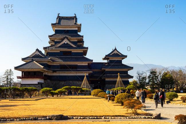 December 2, 2018: Matsumoto castle, Nagano prefecture, Honshu, Japan.