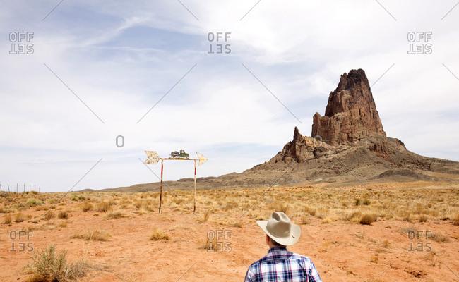 Rancher on outskirts of Monument Valley Navajo Tribal Park, Arizona, USA