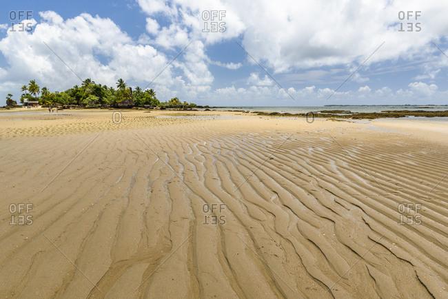 Tropical beach in south Bahia, Brazil