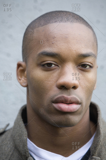 USA, Oregon, Portland - November 11, 2007: Outdoor portrait of man of African ethnicity.