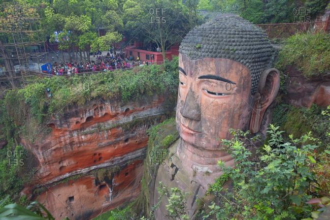 Leshan, China - March 28, 2016: Giant Buddha