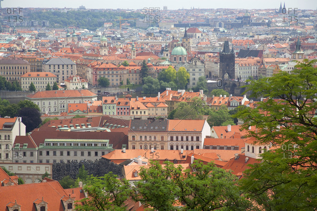 Overview of the city of Prague, Czech Republic