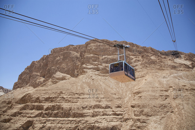 Mountain cable car, Masada, Israel