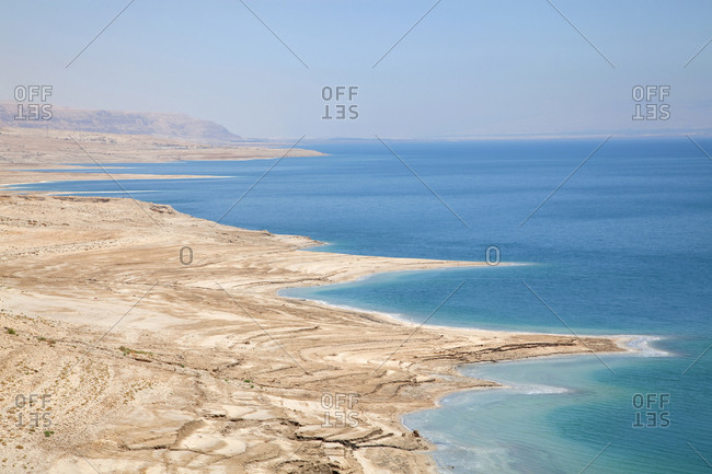 Aerial view over the Dead Sea, Israel