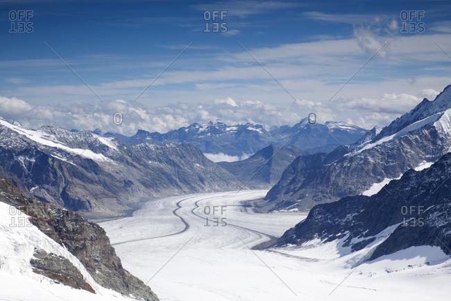 Jungfraujoch glaciers and ice fields, Switzerland