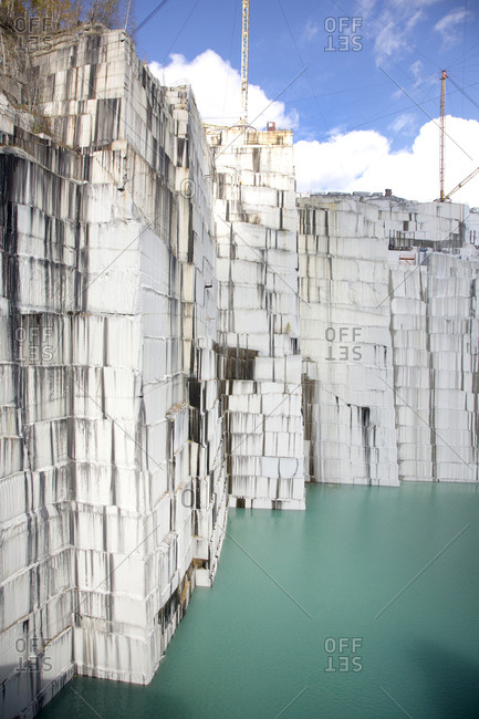 Granite quarry with water reserve, Vermont, USA