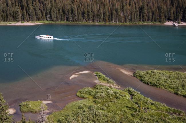 Historical boat tour in Glacier National Park, Montana
