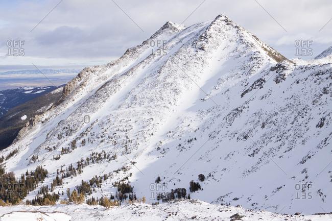 Branham Peak Ridge above the Bell Lake Yurt in Pony, Montana.