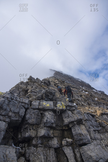 Climbers  Assiniboine, British Columbia, Canada