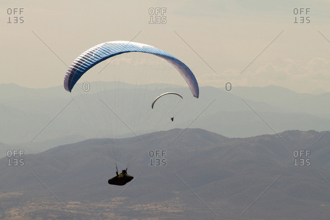 Paragliding in Taxco, Guerrero, Mexico.