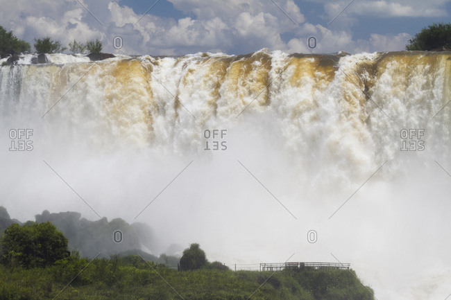 Waterfalls at Iguazu National Park in Misiones, Argentina.