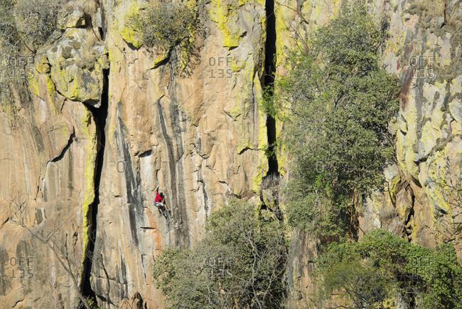 Rock climbing in Ixcatan, Jalisco, Mexico.