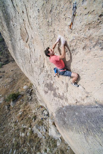 Rock climbing in El Diente, Guadalajara, Jalisco, Mexico