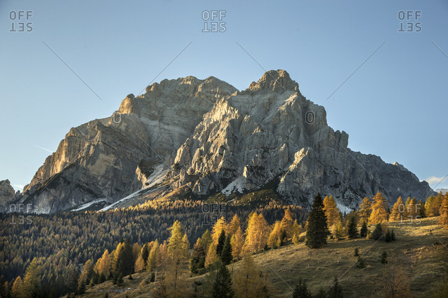 Fall Colors Cover The Italian Alps