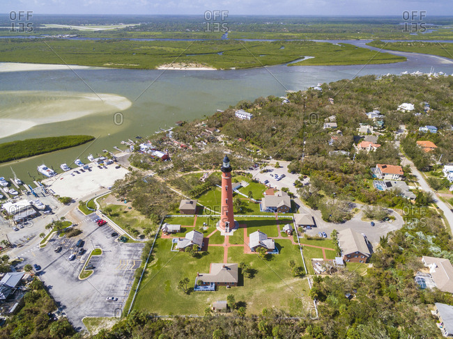 Ponce De Leon Inlet Lighthouse In Ponce Inlet, Florida, Usa