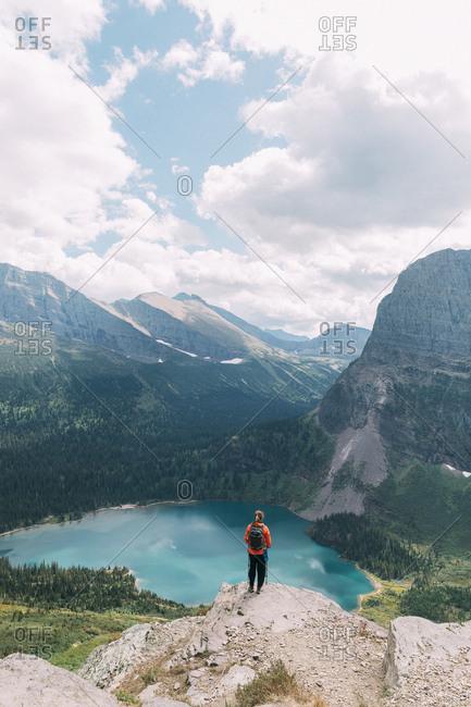 Girl in Glacier National Park
