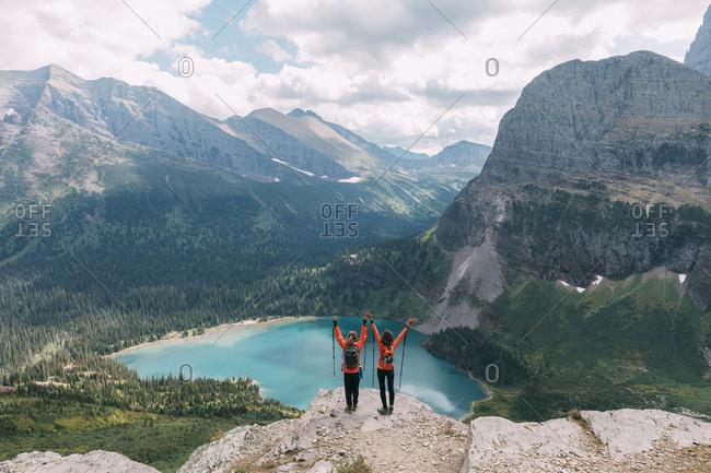 Girls hiking incredible Glacier National Park