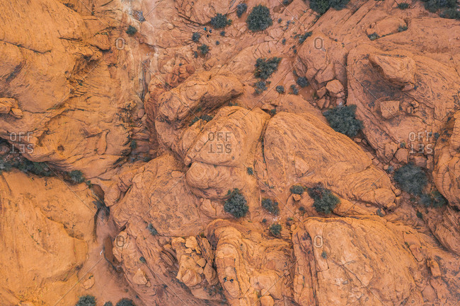Red Rock Canyon from above, drone photo, Nevada
