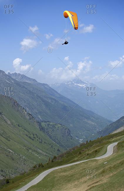 A parapente, Savoie, France.