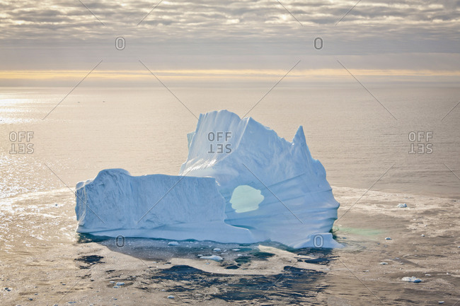Seascape and iceberg, Baffin Bay, Greenland waters.
