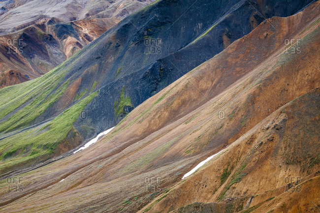 Abstract Landscape Of Delta Mountains, Alaska Range, Alaska, Usa