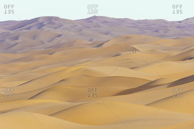 Sand dunes in Gobi Desert, Gobi Gurvansaikhan National Park, Omnogovi Province, Mongolia