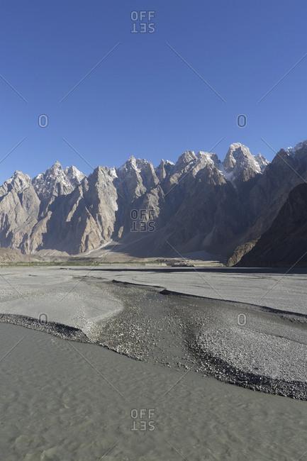 Hunza River and Passu Cones, Pakistan