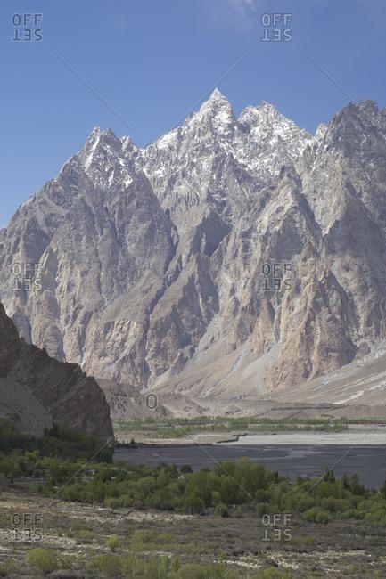 Rugged ridges of Passu Cathedral, Gilgit-Baltistan, Pakistan