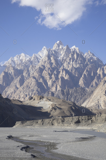 Passu Cones and Hunza River in Gilgit-Baltistan, Pakistan