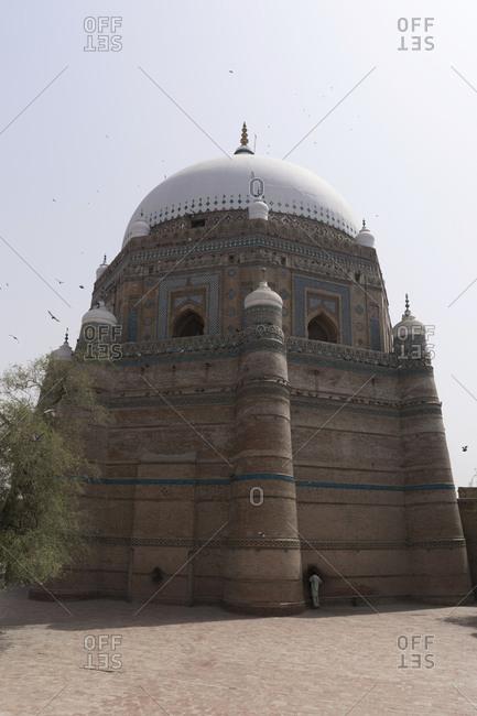 Pilgrim at Darbar Hazrat Shah Rukn-e-Alam, Multan
