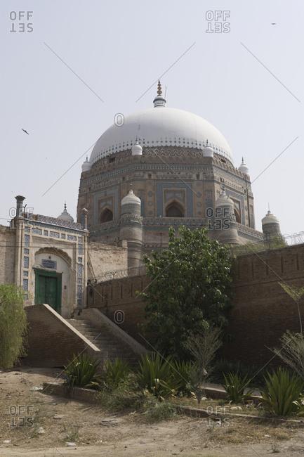 Multan, Pakistan - April 28, 2018: Darbar Hazrat Shah Rukn-e-Alam, Multan