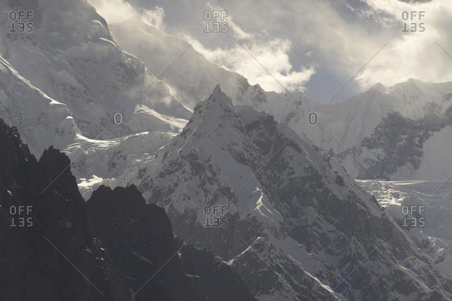 Karakorum Peaks covered in snow, Hunza, Gilgit-Baltistan, Pakistan