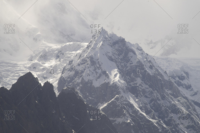 Clouds covering Karakorum Peaks of Hunza, Gilgit-Baltistan, Pakistan