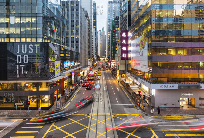 November 13, 2018: Traffic in Hong Kong Central- Hong Kong- China